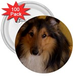 Shetland Sheepdog 3  Buttons (100 pack)  Front
