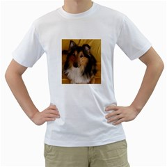 Shetland Sheepdog Men s T-Shirt (White) (Two Sided)