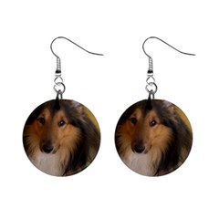 Shetland Sheepdog Mini Button Earrings