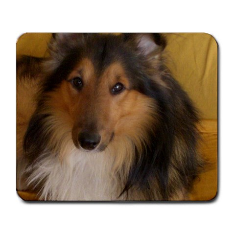 Shetland Sheepdog Large Mousepads