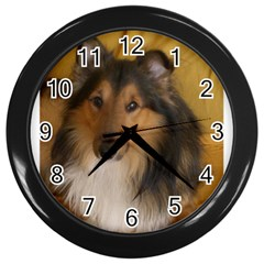 Shetland Sheepdog Wall Clocks (black)