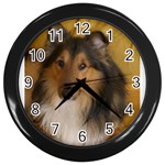 Shetland Sheepdog Wall Clocks (Black) Front