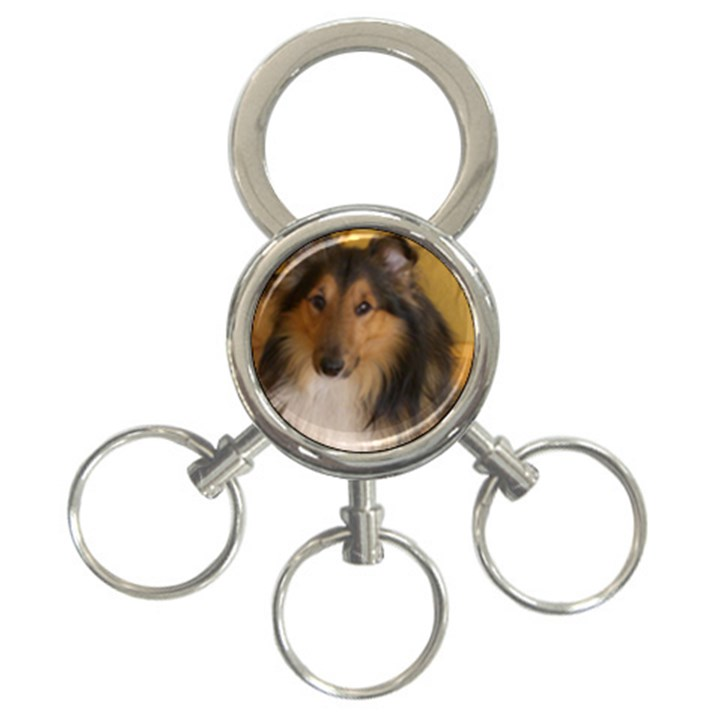 Shetland Sheepdog 3-Ring Key Chains