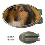 Shetland Sheepdog Money Clips (Oval)  Front