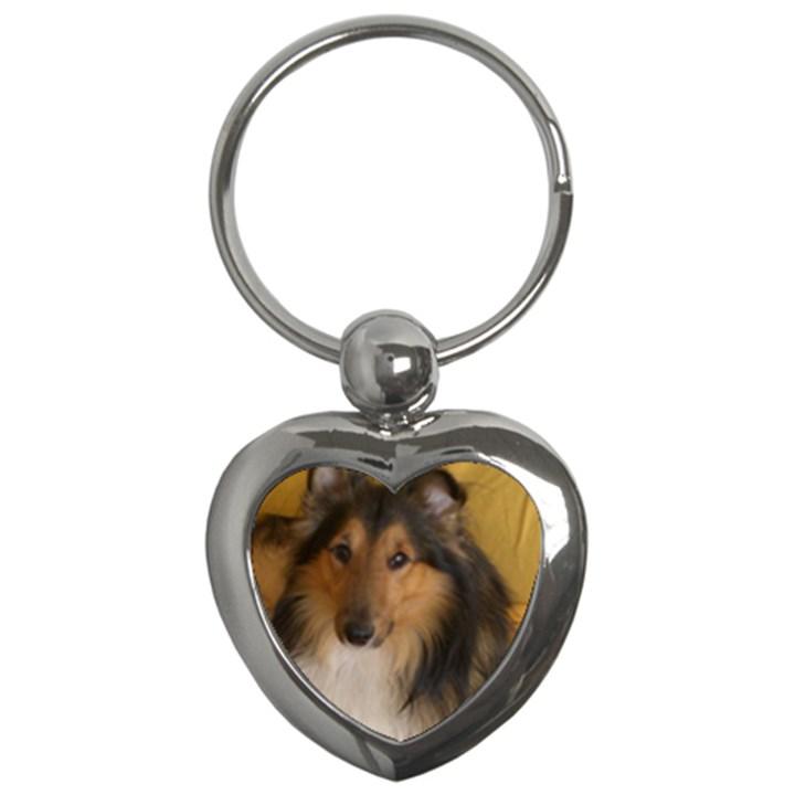 Shetland Sheepdog Key Chains (Heart)