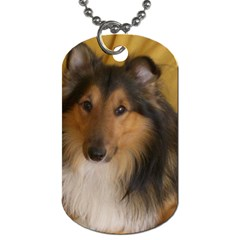 Shetland Sheepdog Dog Tag (One Side)