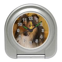 Shetland Sheepdog Travel Alarm Clocks