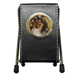 Shetland Sheepdog Pen Holder Desk Clocks Front