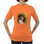 Shetland Sheepdog Women s Dark T-Shirt Front