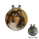 Shetland Sheepdog Hat Clips with Golf Markers Front