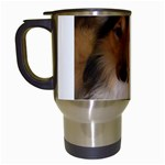 Shetland Sheepdog Travel Mugs (White) Left