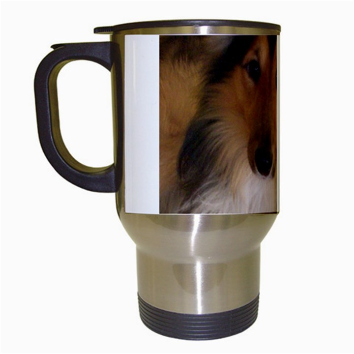 Shetland Sheepdog Travel Mugs (White)