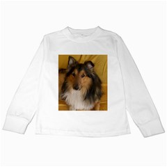 Shetland Sheepdog Kids Long Sleeve T-Shirts