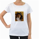 Shetland Sheepdog Women s Loose-Fit T-Shirt (White) Front