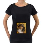 Shetland Sheepdog Women s Loose-Fit T-Shirt (Black) Front