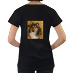 Shetland Sheepdog Women s Loose-Fit T-Shirt (Black) Back
