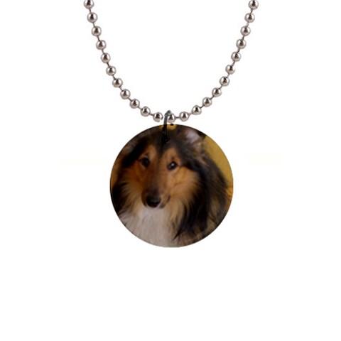 Shetland Sheepdog Button Necklaces