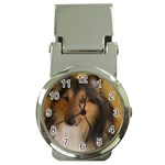 Shetland Sheepdog Money Clip Watches Front