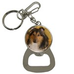 Shetland Sheepdog Bottle Opener Key Chains Front