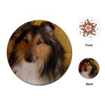 Shetland Sheepdog Playing Cards (Round)  Front