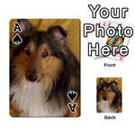 Shetland Sheepdog Playing Cards 54 Designs  Front - SpadeA