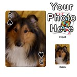 Shetland Sheepdog Playing Cards 54 Designs  Front - Spade5