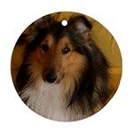 Shetland Sheepdog Round Ornament (Two Sides)  Front