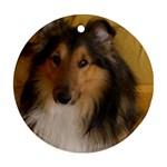 Shetland Sheepdog Round Ornament (Two Sides)  Back