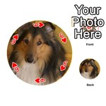 Shetland Sheepdog Playing Cards 54 (Round)  Front - Heart6