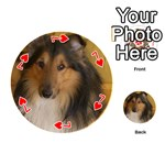 Shetland Sheepdog Playing Cards 54 (Round)  Front - Heart7