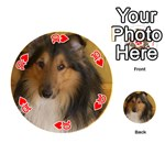 Shetland Sheepdog Playing Cards 54 (Round)  Front - Heart10