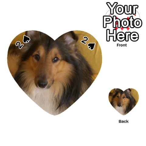Shetland Sheepdog Playing Cards 54 (Heart)