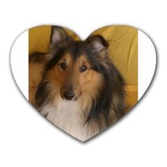 Shetland Sheepdog Heart Mousepads