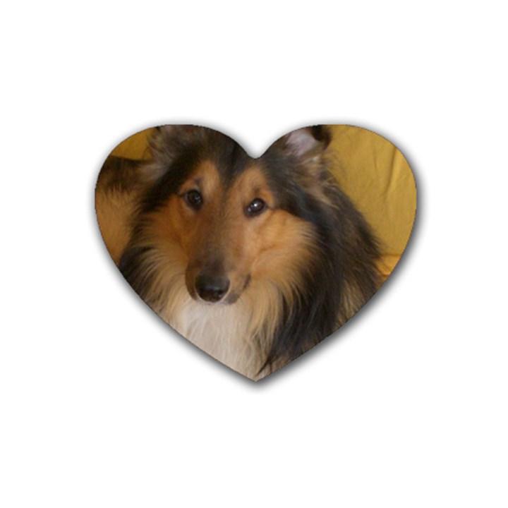 Shetland Sheepdog Rubber Coaster (Heart)