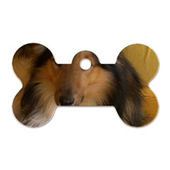 Shetland Sheepdog Dog Tag Bone (Two Sides)