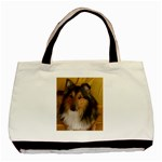 Shetland Sheepdog Basic Tote Bag (Two Sides) Back