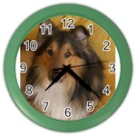 Shetland Sheepdog Color Wall Clocks Front