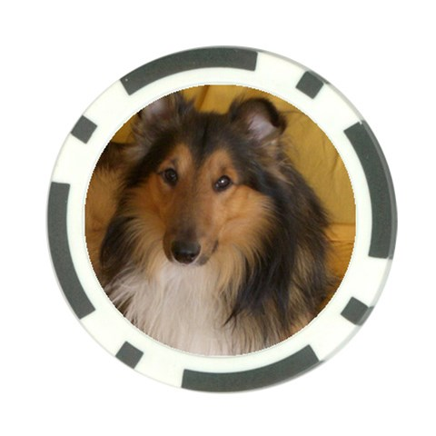 Shetland Sheepdog Poker Chip Card Guards