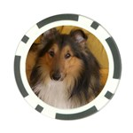 Shetland Sheepdog Poker Chip Card Guards Front