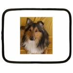 Shetland Sheepdog Netbook Case (Large) Front