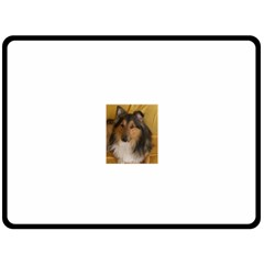 Shetland Sheepdog Fleece Blanket (Large)