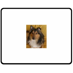Shetland Sheepdog Fleece Blanket (medium)