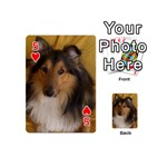 Shetland Sheepdog Playing Cards 54 (Mini)  Front - Heart5