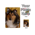 Shetland Sheepdog Playing Cards 54 (Mini)  Front - Spade5