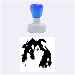 Shetland Sheepdog Rubber Round Stamps (Medium)