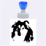 Shetland Sheepdog Rubber Round Stamps (Large) 1.875 x1.875  Stamp