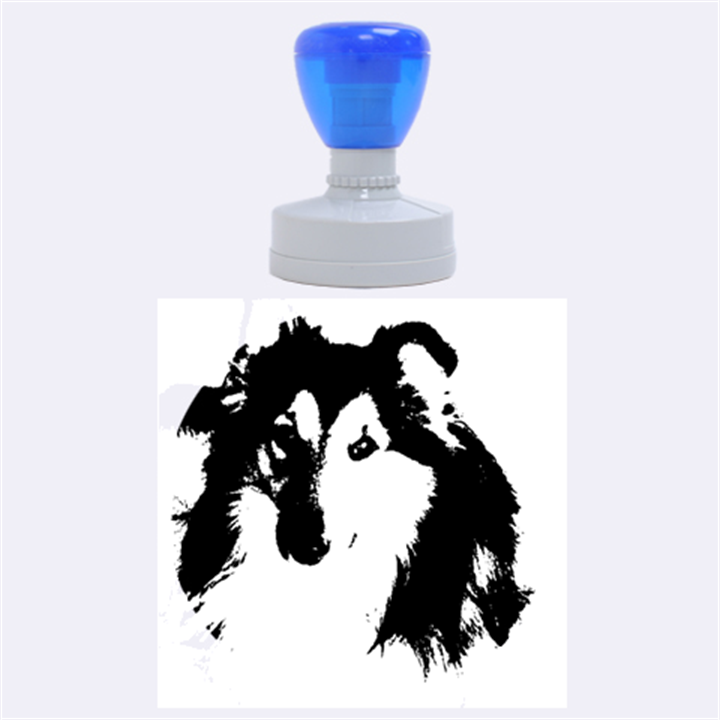 Shetland Sheepdog Rubber Round Stamps (Large)