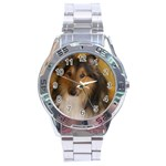 Shetland Sheepdog Stainless Steel Analogue Watch Front