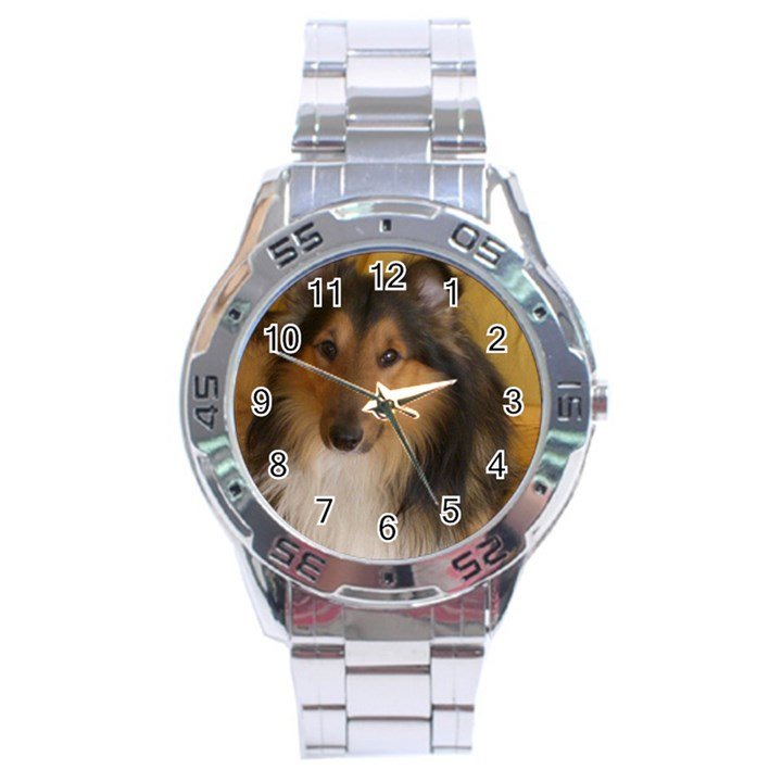 Shetland Sheepdog Stainless Steel Analogue Watch