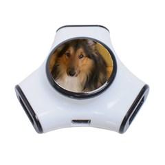 Shetland Sheepdog 3-Port USB Hub